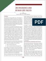 Life Insurance Human Values