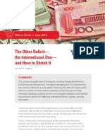 The Other Deficit— the International One— and How to Shrink It