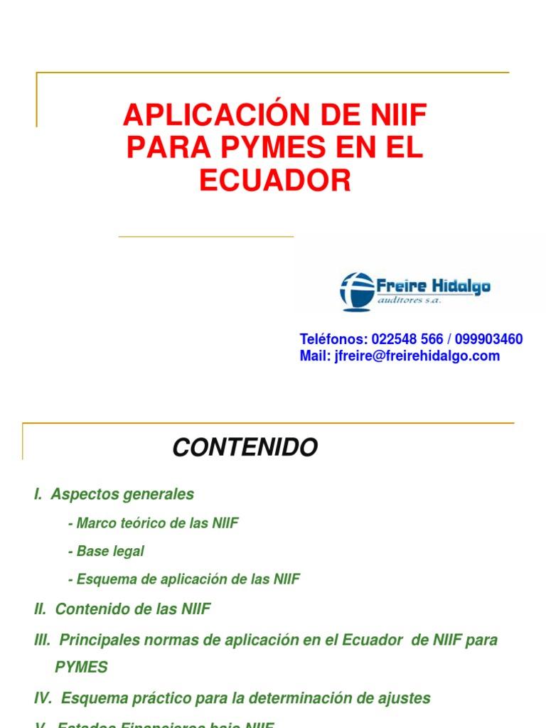 JF Presentación Gerencial NIIF Universidad Central- 2013