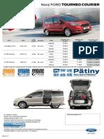 Ford Tourneo Courier - Cenník Júl 2014