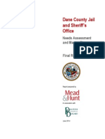 Dane County Sheriff Jail Needs Assesment and Master Plan June 2014