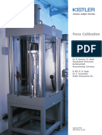 Force Calibration Piezoeletric