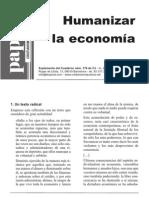 Humanizar La Economía