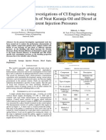 Experimental Investigations of CI Engine by using Different Blends of Neat Karanja Oil and Diesel at Different Injection Pressures