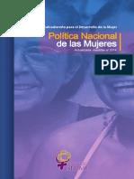 Politica Nacional de Las Mujeres Actualizada Medidas Al 2014