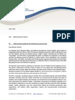 Second letter to Bernard Valcourt from NPC