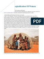 Abuse & Marginalization of Women
