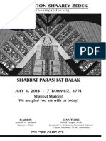 July 5, 2014 Shabbat Card