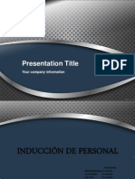 Presentacion Induccion de Personal