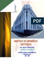 Anestesia en Emergencias Obstetricas