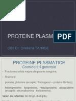 Curs 2 - Proteine Plasmatice 20 Martie 2014