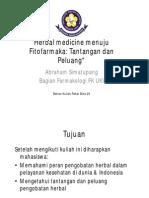 Herbal Medicine Menuju Fitofarmaka