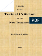 A Guide to the Textual Criticism of the New Testament Miller