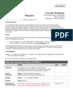 US 101 Course Syllabus