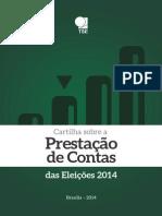 TSE Cartilha Prestacao de Contas Das Eleicoes 2014 2