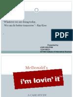 MC DONALDS Case Presentation