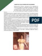 2 de Junio 1866 Muerte de Luisa Cáceres Díaz de Arismendi