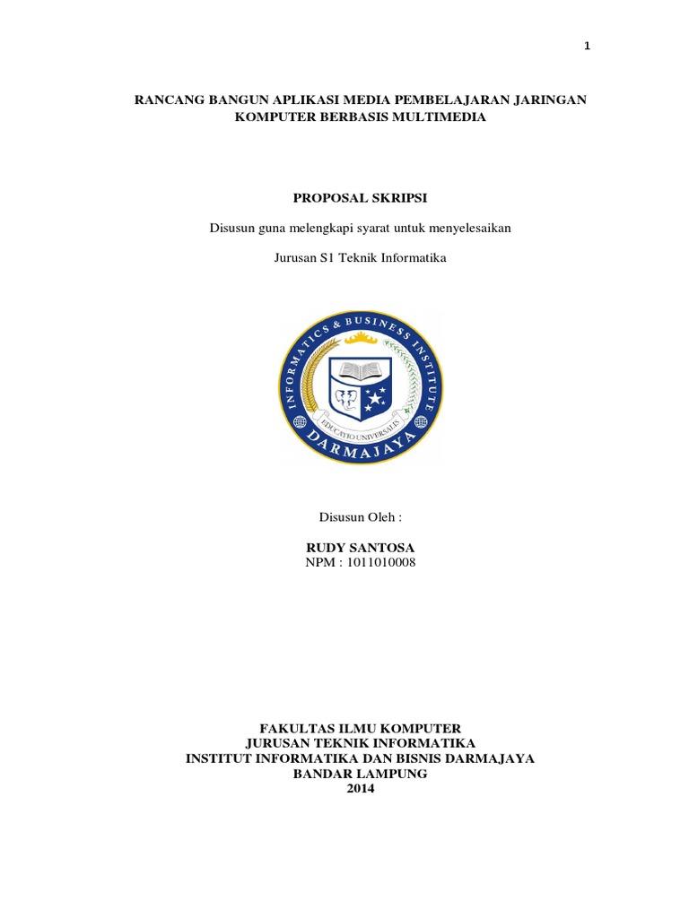 Contoh Proposal Skripsi Teknik Informatika Jaringan Berbagi Contoh Proposal