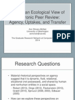 Toward an Ecological View of Electronic Peer Review