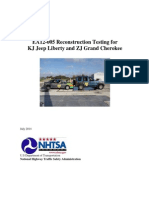 NHTSA's Crash Reconstruction Test Report - July 2014