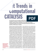 Recent Trends in computational catalysis