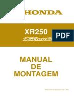 Honda Xr250 Tornado Manual de Montagem