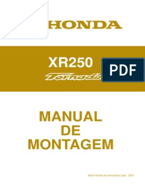 MANUAL 250 TORNADO DA XR BAIXAR