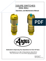 Argus Pressure Switch Installation Operation and Maintenance Manual