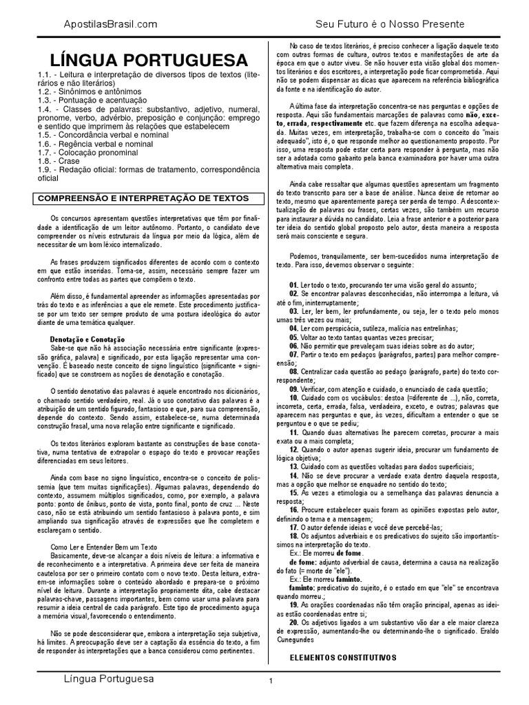 Língua Portuguesa 8aefb31c1c