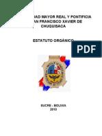 Estatuto Organico Usfxch-2010