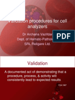 Validation Cell Analyzers