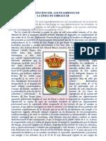 CONSTITUCIÓN DEL AYUNTAMIENTO DE LA LINEA DE GIBRALTAR