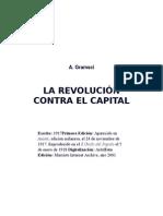 La Revolución Contra El Capital. Antoni Gramsci