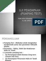 Uji Pemompaan (Pumping Test)