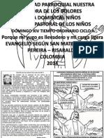 HOJITA EVANGELIO  DOMINGO XIV CICLO A BN
