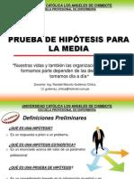 Hipotesis de Media Poblacional