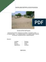 Estudio de Perfil de Proyecto Para La Construccion de Pistas y Veredas