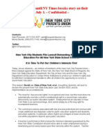 Children First Lawsuit Press Release