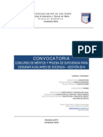 2014.03 Convocatoria Para Auxiliares de Docencia