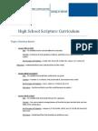 high school scripture curriculum - 2011