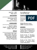 CV - Hugo Coria