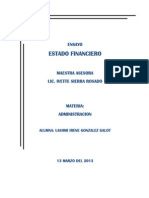 Estado Financiero de La Empresa Alessandra y Anexas s