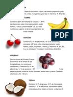 Frutas y Verduras Sus Vitaminas