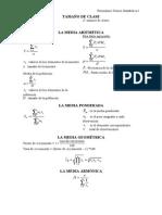 Formulario de Estadística i