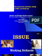 Indoor Environmental Quality (IEQ)in IPMA workshops