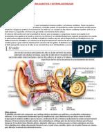 Sistema Auditivo y Sistema Vestibular