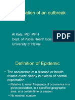 Investigation of an outbreak