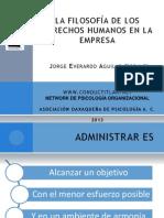 Filosofia Derechos Humanos en La Empresa Cultura Organizacional Laboral