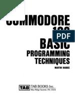 Commodore 128 Basic Programming Techniques