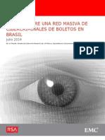 RSA Descubre Una Red Masiva de Cibercriminales de Boletos en Brasil